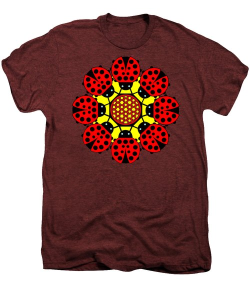 Eight Lucky Ladybirds Men's Premium T-Shirt by John Groves