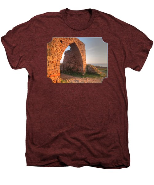 Evening Light On Grosnez Castle Ruins Jersey Men's Premium T-Shirt by Gill Billington
