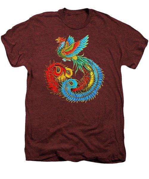 Fenghuang Chinese Phoenix Men's Premium T-Shirt by Rebecca Wang