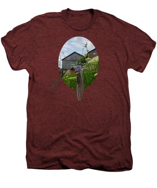 Flying Through The Farm Men's Premium T-Shirt by Jan M Holden