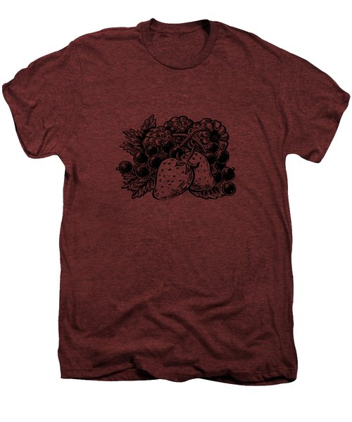 Forest Berries Men's Premium T-Shirt by Irina Sztukowski