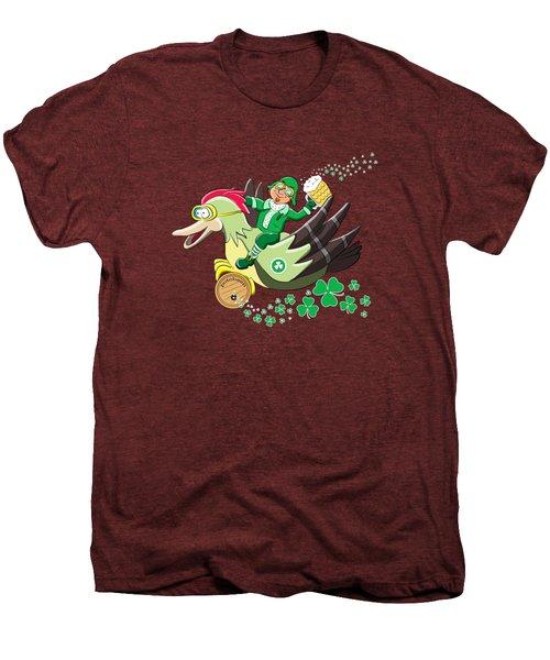 Lucky Leprechaun Men's Premium T-Shirt by David Brodie