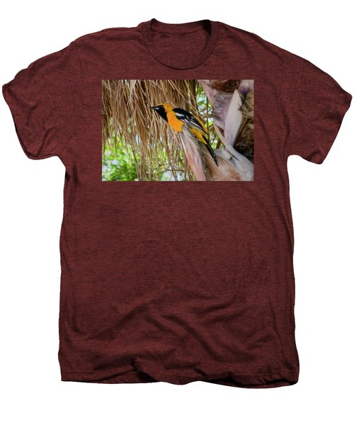 Male Hooded Oriole H17 Men's Premium T-Shirt by Mark Myhaver