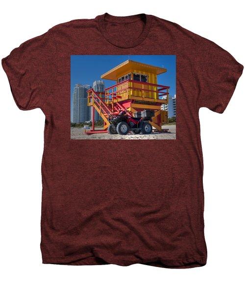 Miami Beach Lifeguard House Ocean Rescue Men's Premium T-Shirt by Toby McGuire