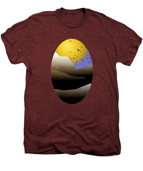 Mountain Sunset Landscape Art Men's Premium T-Shirt by Christina Rollo