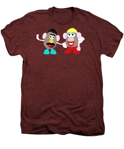 Mr. And Mrs. Potato Head Men's Premium T-Shirt by Priscilla Wolfe