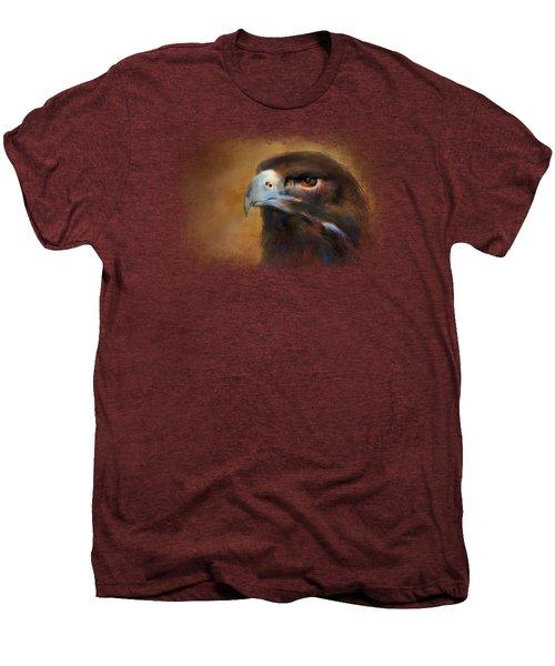 One White Feather Men's Premium T-Shirt by Jai Johnson