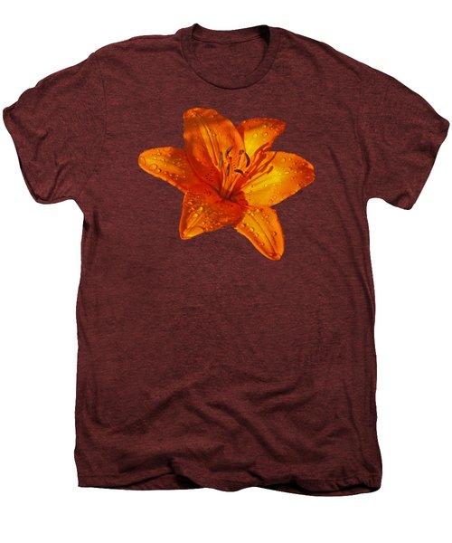 Orange Lily In Sunshine After The Rain Men's Premium T-Shirt by Gill Billington