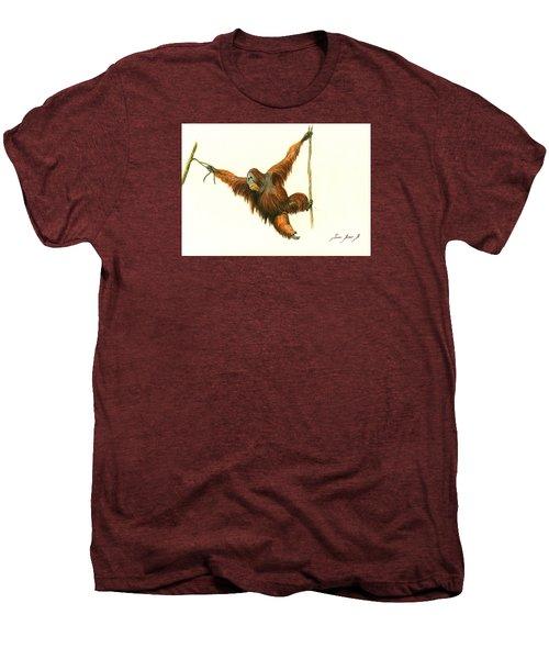 Orangutan Men's Premium T-Shirt by Juan Bosco