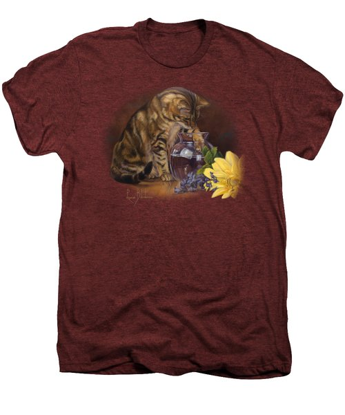 Paw In The Vase Men's Premium T-Shirt by Lucie Bilodeau