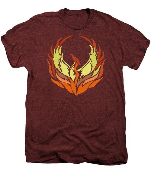 Phoenix Bird Men's Premium T-Shirt by Priscilla Wolfe