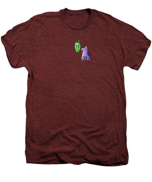 Play Ball Men's Premium T-Shirt by LimbBirds Whimsical Birds