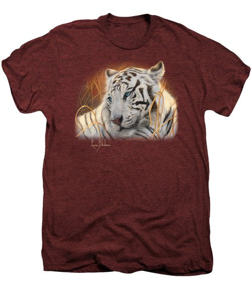 Portrait White Tiger 1 Men's Premium T-Shirt by Lucie Bilodeau