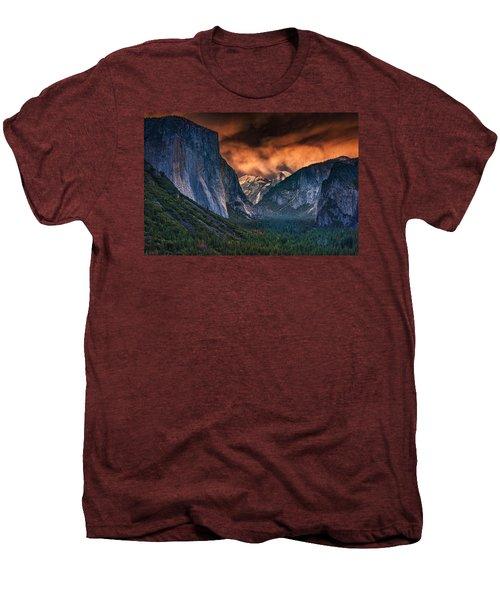 Sunset Skies Over Yosemite Valley Men's Premium T-Shirt by Rick Berk
