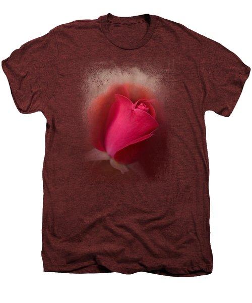 The First Red Rose Men's Premium T-Shirt by Jai Johnson