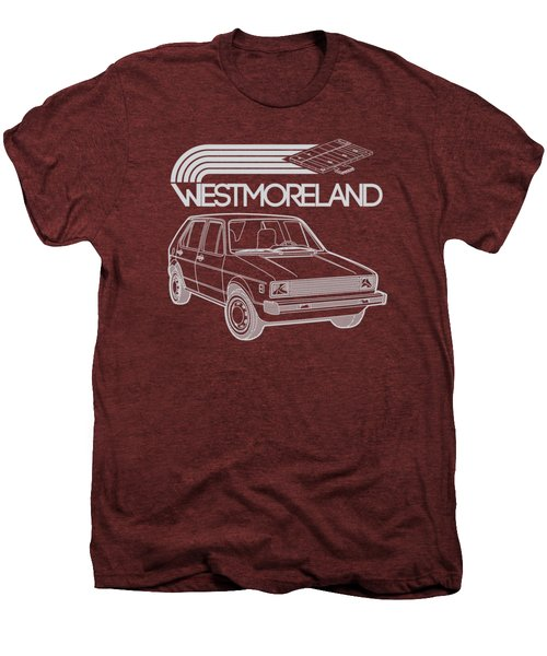 Vw Rabbit - Westmoreland Theme - Gray Men's Premium T-Shirt by Ed Jackson