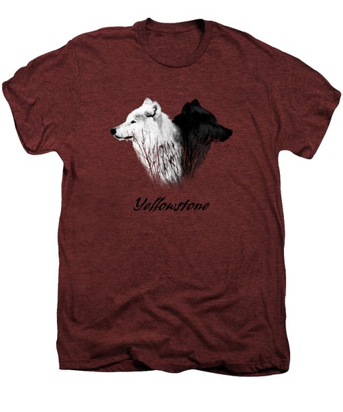 Yellowstone Wolves T-shirt Men's Premium T-Shirt by Max Waugh