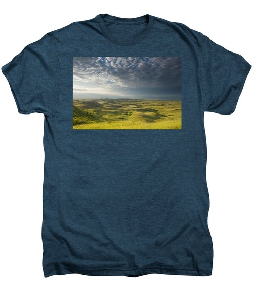 Killdeer Badlands In The East Block Of Men's Premium T-Shirt by Dave Reede