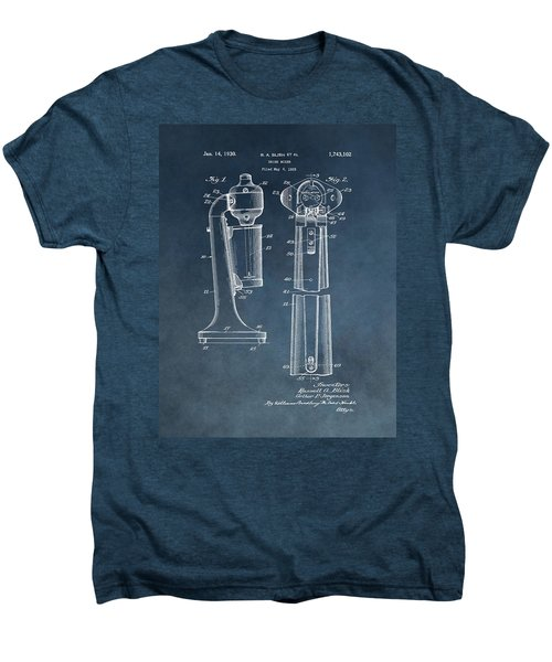 1930 Drink Mixer Patent Blue Men's Premium T-Shirt by Dan Sproul