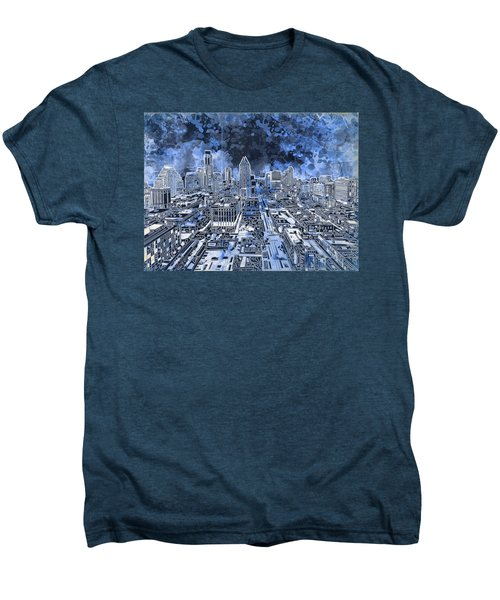 Austin Texas Abstract Panorama 5 Men's Premium T-Shirt by Bekim Art