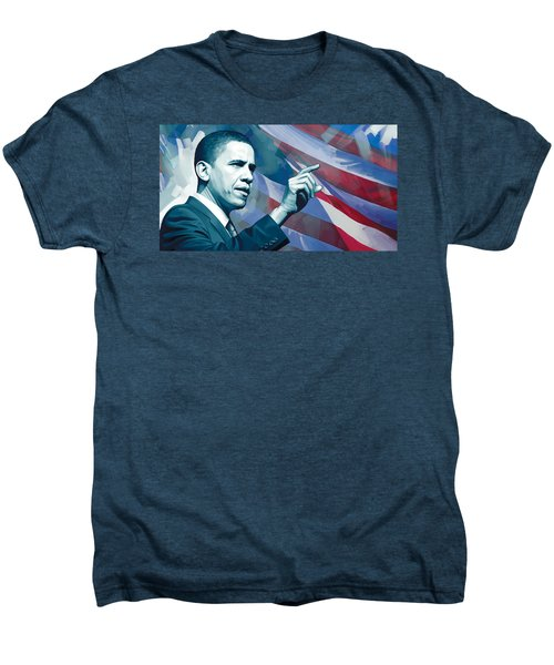 Barack Obama Artwork 2 Men's Premium T-Shirt by Sheraz A