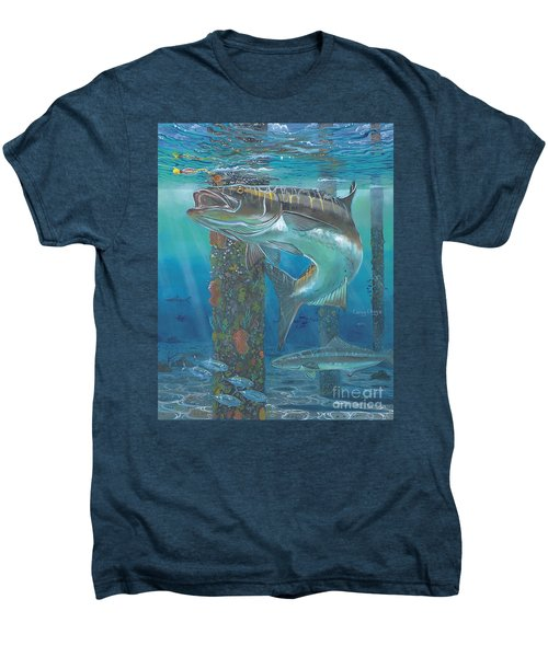 Cobia Strike In0024 Men's Premium T-Shirt by Carey Chen