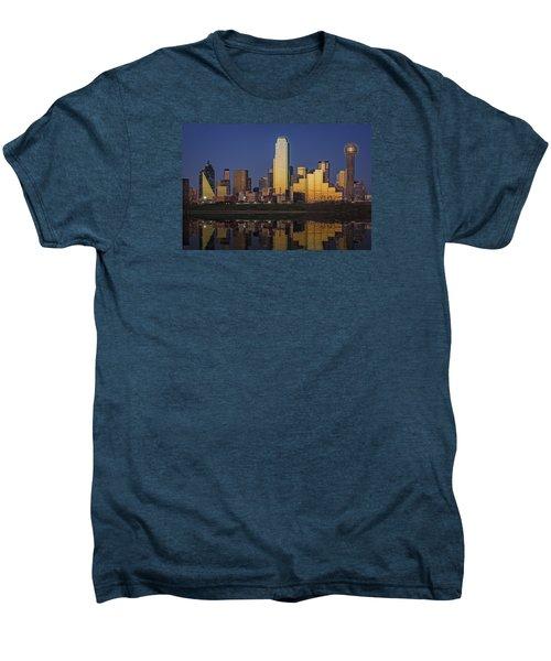 Dallas At Dusk Men's Premium T-Shirt by Rick Berk