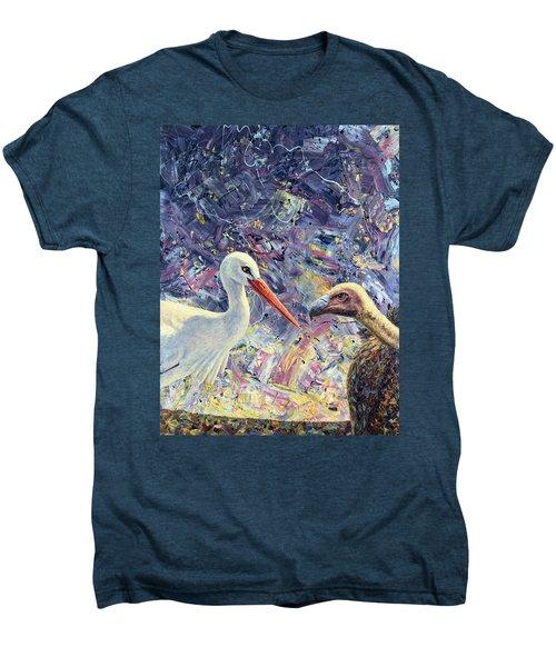 Living Between Beaks Men's Premium T-Shirt by James W Johnson