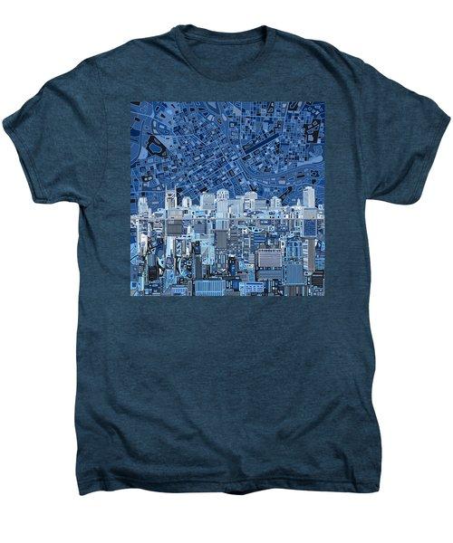 Nashville Skyline Abstract Men's Premium T-Shirt by Bekim Art