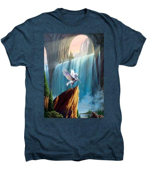Pegasus Kingdom Men's Premium T-Shirt by Garry Walton