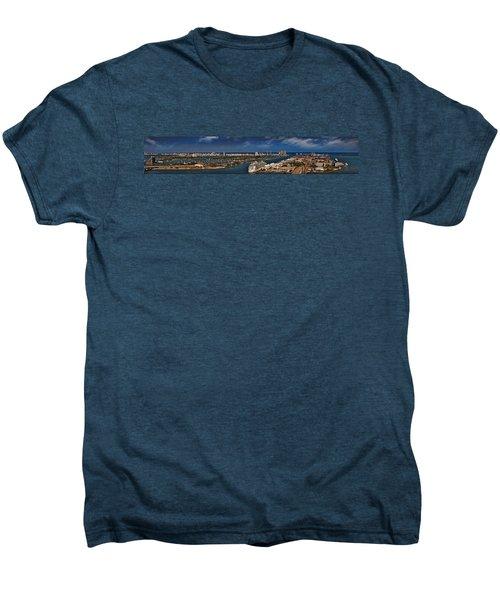 Port Of Miami Panoramic Men's Premium T-Shirt by Susan Candelario