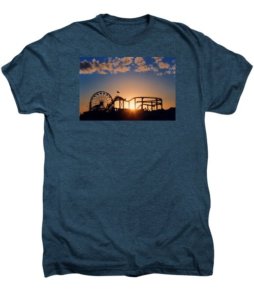 Santa Monica Pier Men's Premium T-Shirt by Art Block Collections