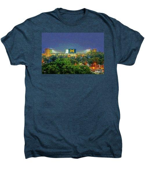Stadium At Night Men's Premium T-Shirt by John Farr