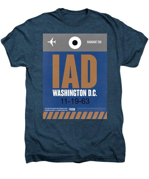 Washington D.c. Airport Poster 4 Men's Premium T-Shirt by Naxart Studio