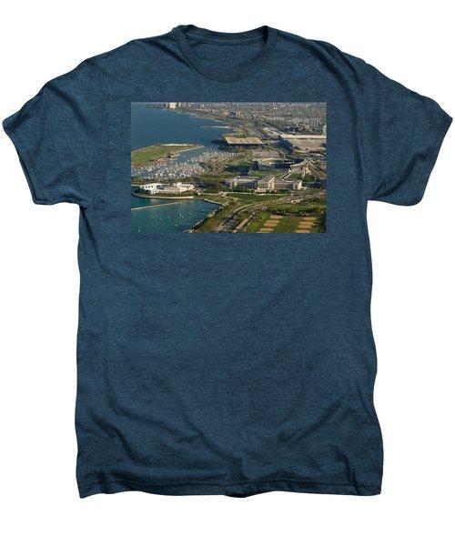 Chicagos Lakefront Museum Campus Men's Premium T-Shirt by Steve Gadomski