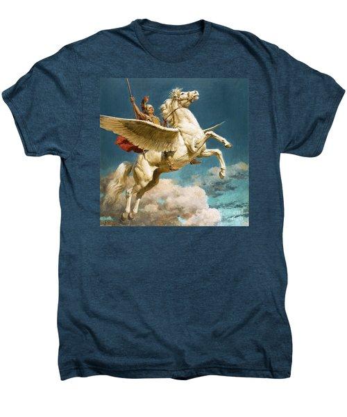 Pegasus The Winged Horse Men's Premium T-Shirt by Fortunino Matania