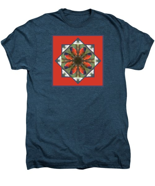 Painted Bunting Men's Premium T-Shirt by Rhoda Gerig