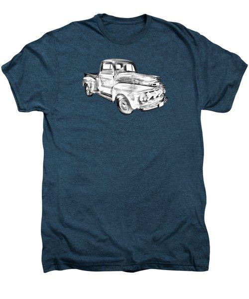 1951 Ford F-1 Pickup Truck Illustration  Men's Premium T-Shirt by Keith Webber Jr
