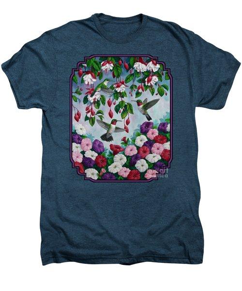 Bird Painting - Hummingbird Heaven Men's Premium T-Shirt by Crista Forest