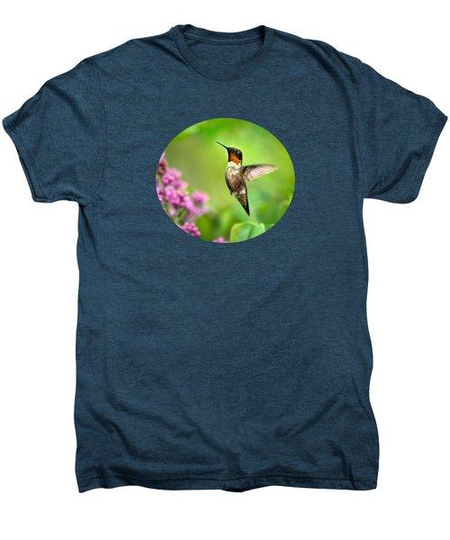 Welcome Home Hummingbird Men's Premium T-Shirt by Christina Rollo