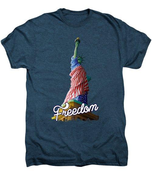 Freedom Men's Premium T-Shirt by Anthony Mwangi