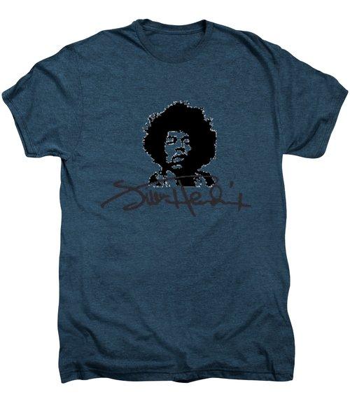 Jimi Hendrix Purple Haze Men's Premium T-Shirt by David Dehner