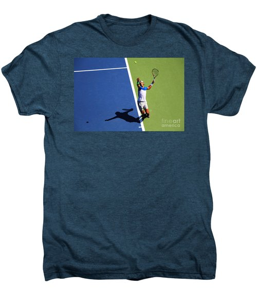 Rafeal Nadal Tennis Serve Men's Premium T-Shirt by Nishanth Gopinathan