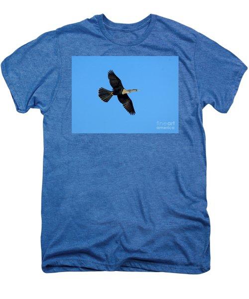 Anhinga Female Flying Men's Premium T-Shirt by Anthony Mercieca