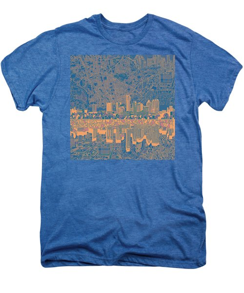 Austin Texas Skyline 2 Men's Premium T-Shirt by Bekim Art