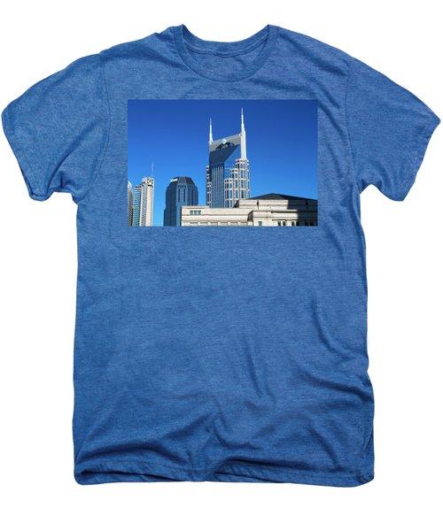 Batman Building And Nashville Skyline Men's Premium T-Shirt by Dan Sproul