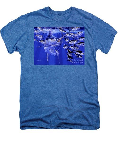 Blue Marlin Round Up Off0031 Men's Premium T-Shirt by Carey Chen