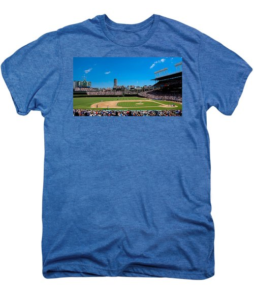 Day Game At Wrigley Field Men's Premium T-Shirt by Anthony Doudt