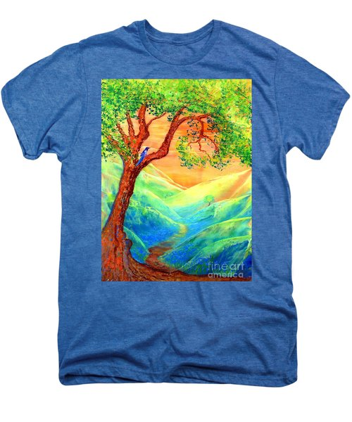 Dreaming Of Bluebells Men's Premium T-Shirt by Jane Small