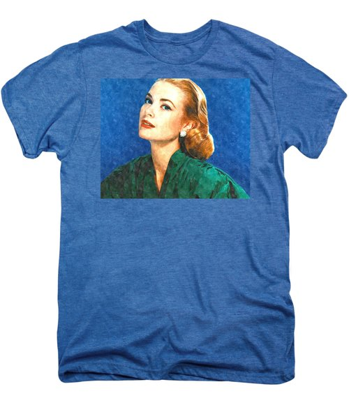 Grace Kelly Painting Men's Premium T-Shirt by Gianfranco Weiss